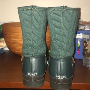 Retired *Rare* Sperry Wo's Hunter Green Rain Boots
